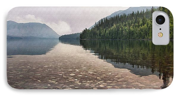 Early Morning On Lake Mcdonald II Phone Case by Sharon Foster