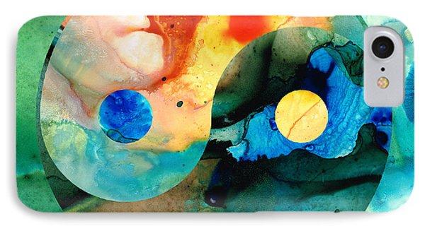 Earth Balance - Yin And Yang Art IPhone Case by Sharon Cummings