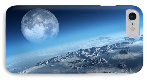 Earth Icy Ocean Aerial View IPhone Case by Johan Swanepoel