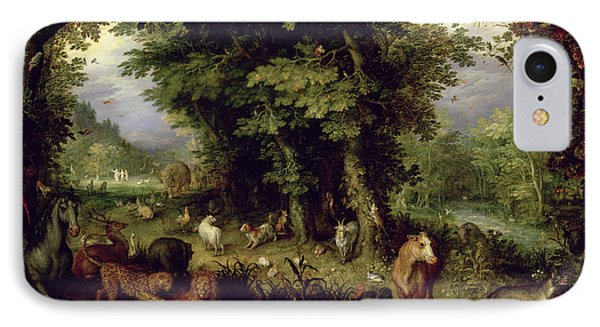 Earth Or The Earthly Paradise IPhone Case by Jan the Elder Brueghel