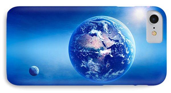 Earth Sunrise Deep Space IPhone Case by Johan Swanepoel
