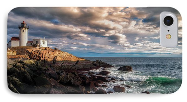 Eastern Point Light IPhone Case by Scott Thorp