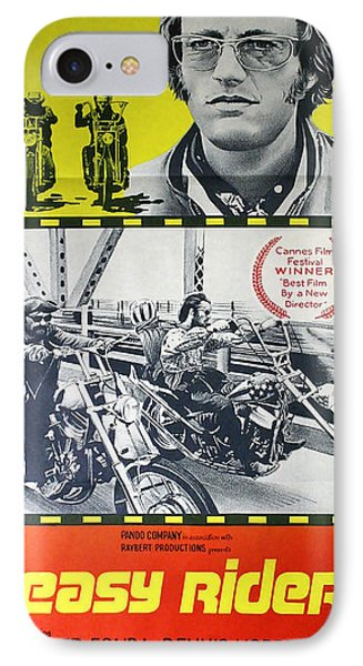 Easy Rider Movie Lobby Poster  1969 IPhone 7 Case by Daniel Hagerman