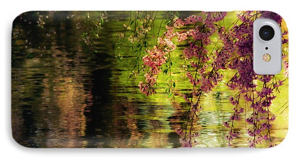 Echoes Of Monet - Cherry Blossoms Over A Pond - Brooklyn Botanic Garden Phone Case by Vivienne Gucwa