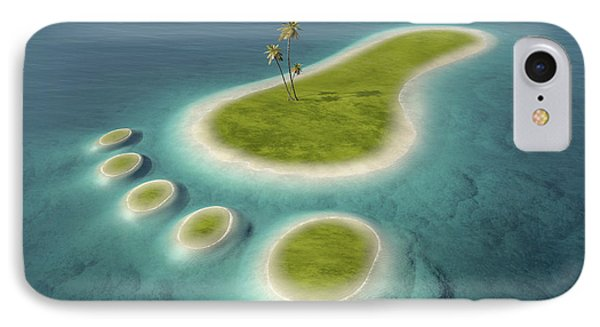 Eco Footprint Shaped Island IPhone Case by Johan Swanepoel