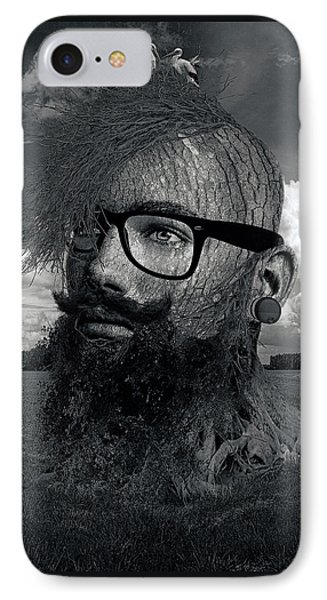 Eco Hipster Black And White IPhone Case by Marian Voicu