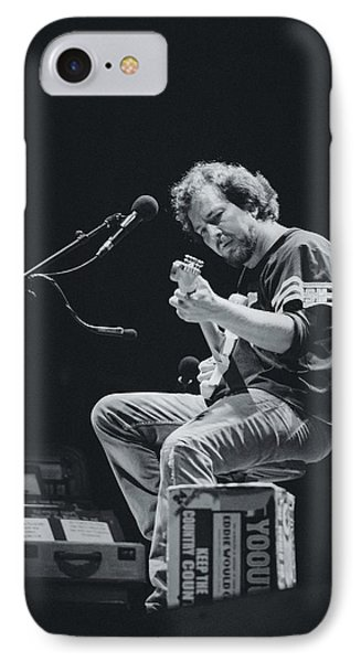 Eddie Vedder Playing Live IPhone Case by Marco Oliveira