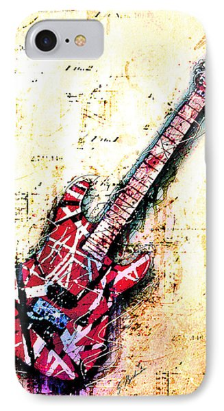 Eddie's Guitar Variation 07 IPhone 7 Case by Gary Bodnar