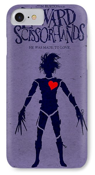 Edward Scissorhands Alternative Poster IPhone 7 Case by Christopher Ables