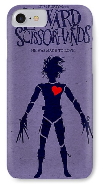 Edward Scissorhands Alternative Poster IPhone Case by Christopher Ables