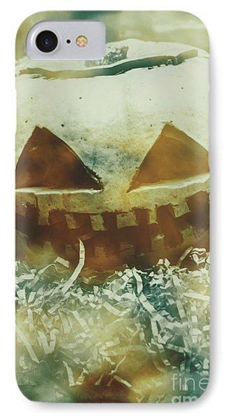 Eerie Ghoulish Halloween Pumpkin Head IPhone Case by Jorgo Photography - Wall Art Gallery