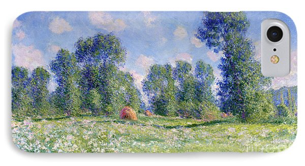 Effect Of Spring At Giverny IPhone Case by Claude Monet