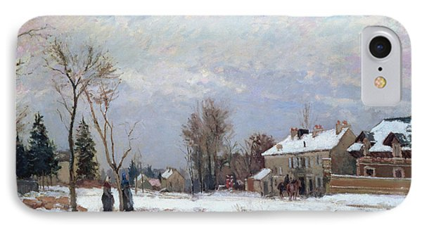 Effects Of Snow IPhone Case by Camille Pissarro