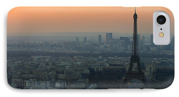 Eiffel Tower At Dusk IPhone Case by Sebastian Musial
