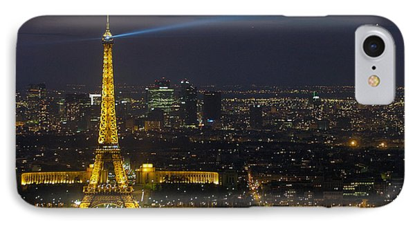 Eiffel Tower At Night IPhone Case by Sebastian Musial
