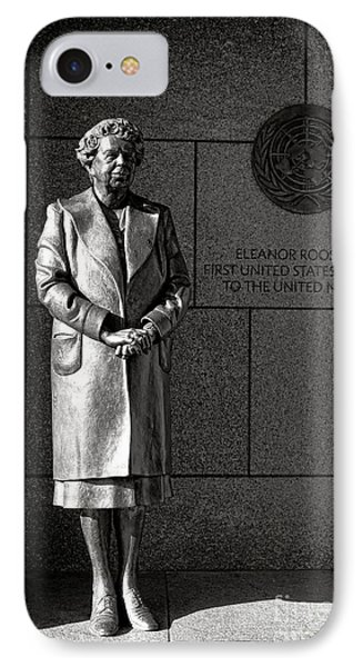 Eleanor Roosevelt Sculpture  IPhone Case by Olivier Le Queinec