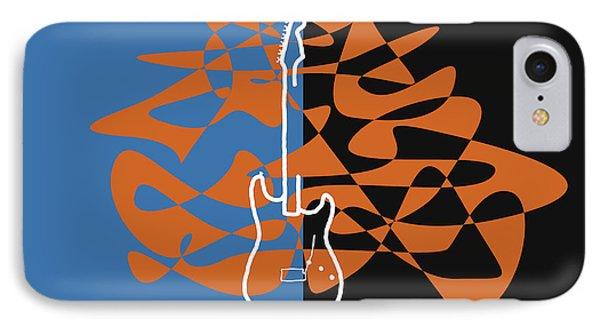 Electric Guitar In Blue IPhone Case by David Bridburg