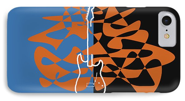 Electric Guitar In Blue IPhone Case by Jazz DaBri
