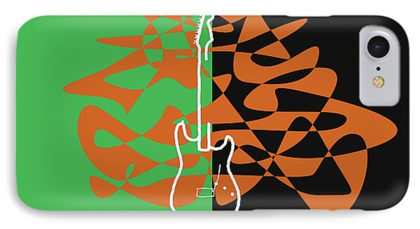 Electric Guitar In Green IPhone Case by David Bridburg