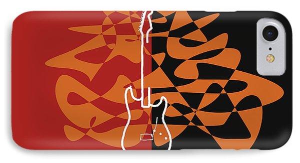 Electric Guitar In Orange Red IPhone Case by Jazz DaBri