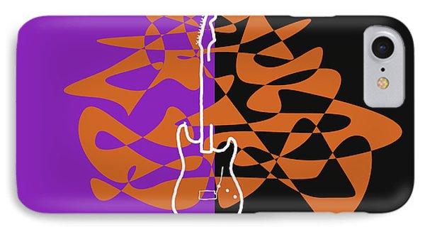 Electric Guitar In Purple IPhone Case by David Bridburg