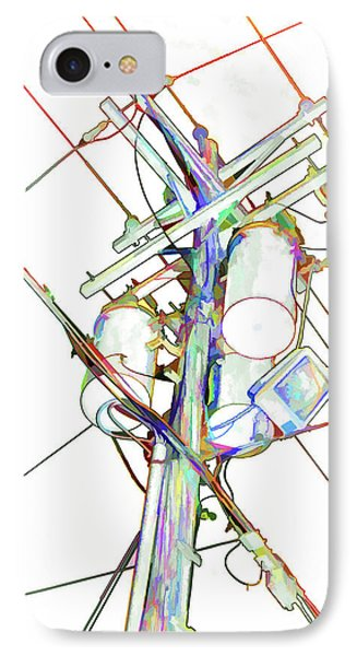 Electricity Post  IPhone Case by Lanjee Chee