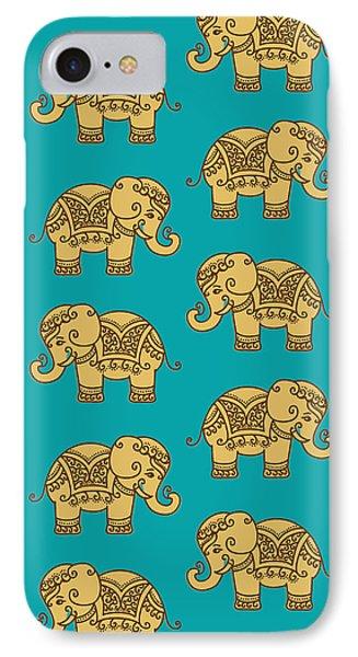 Elephant Pattern IPhone 7 Case by Krishna Kharidehal
