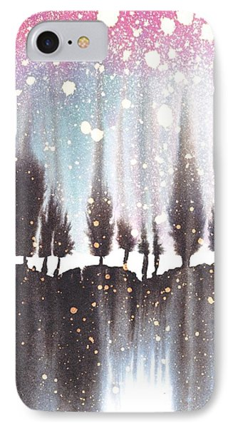 Eleven Trees In The Snow IPhone Case by Marian Fannon Christian