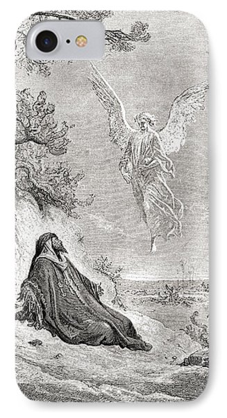 Elijah Nourished By An Angel. After A IPhone Case by Vintage Design Pics