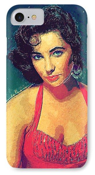 Elizabeth Taylor IPhone 7 Case by Taylan Apukovska