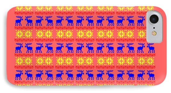 Elk Pattern Changeable Background  IPhone Case by Sebastien Coell