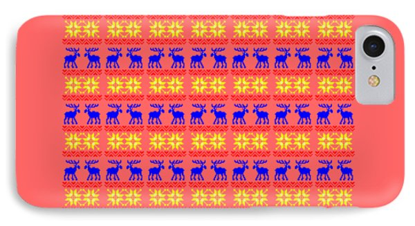 Elk Pattern Changeable Background  IPhone 7 Case by Sebastien Coell