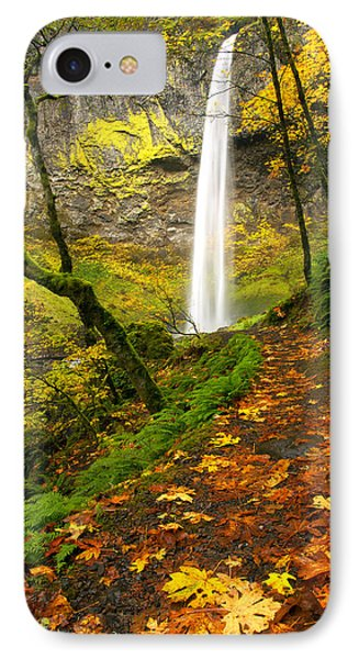 Elowah Autumn Trail Phone Case by Mike  Dawson