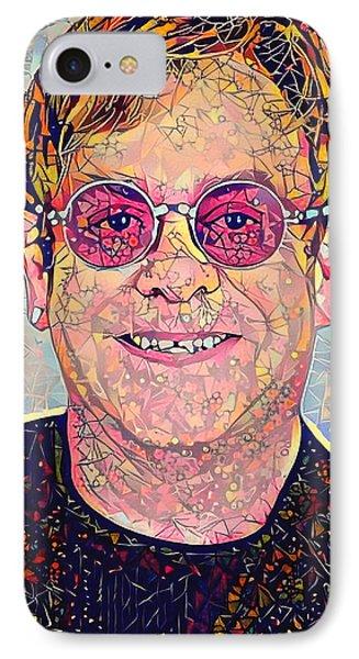Elton John Triangles Portrait IPhone 7 Case by Yury Malkov