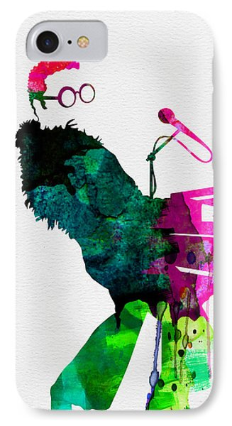 Elton Watercolor IPhone 7 Case by Naxart Studio