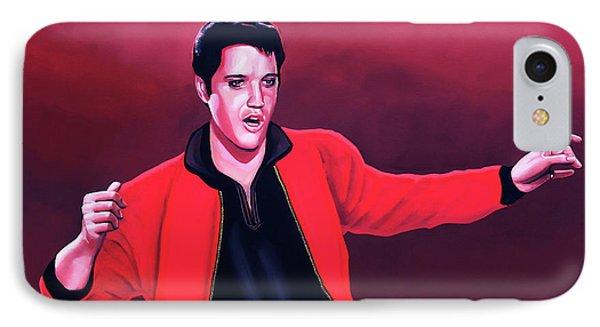 Elvis Presley 4 Painting IPhone 7 Case by Paul Meijering