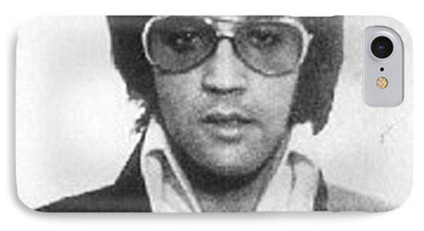 Elvis Presley Mug Shot Vertical IPhone 7 Case by Tony Rubino