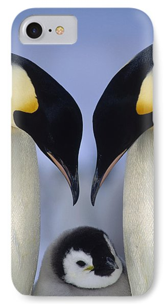 Emperor Penguin Family IPhone 7 Case by Tui De Roy