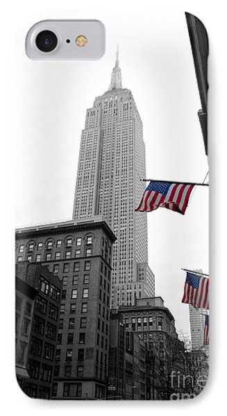 Empire State Building In The Mist IPhone 7 Case by John Farnan