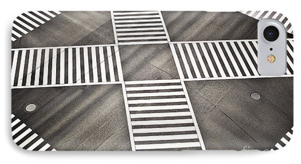 Empty Crosswalk Shibuya Crossing IPhone Case by Bryan Mullennix