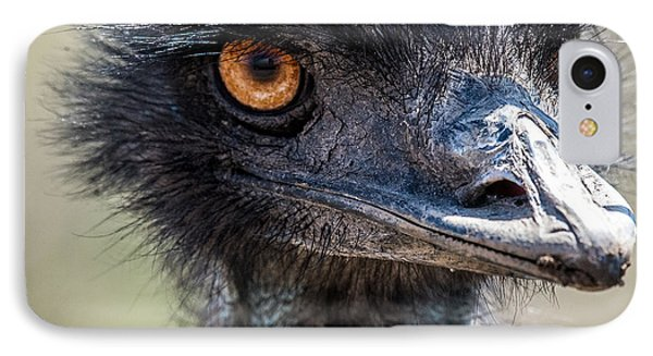 Emu Eyes IPhone Case by Paul Freidlund
