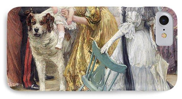 En Famille Phone Case by Gustave Grau