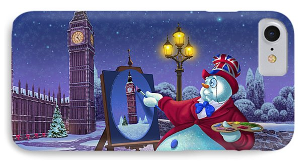English Snowman IPhone 7 Case by Michael Humphries