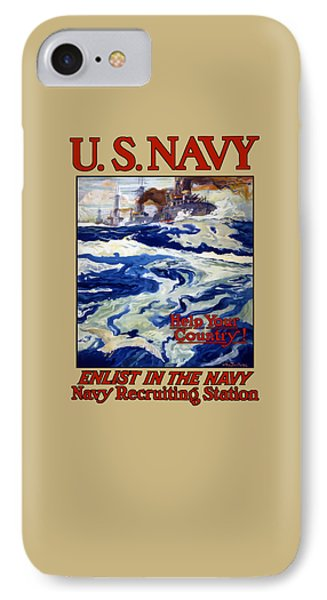 Enlist In The Navy - For Liberty's Sake IPhone Case by War Is Hell Store