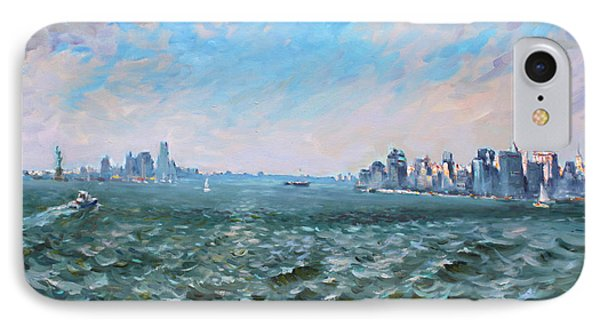 Entering In New York Harbor IPhone Case by Ylli Haruni