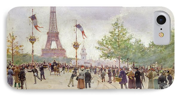 Entrance To The Exposition Universelle Phone Case by Jean Beraud