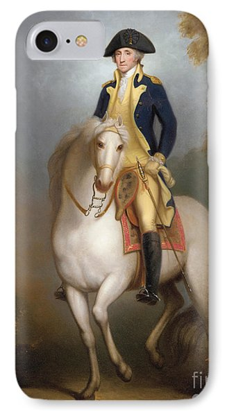 Equestrian Portrait Of George Washington IPhone Case by Rembrandt Peale