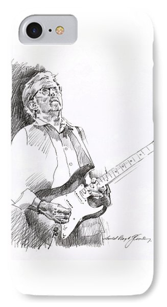 Eric Clapton Joy IPhone 7 Case by David Lloyd Glover