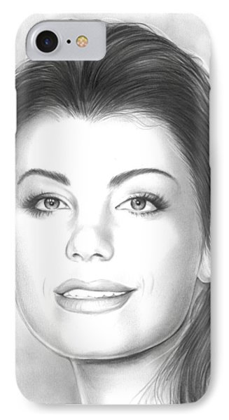 Erica Durance IPhone Case by Greg Joens