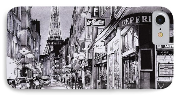 Evening In Paris IPhone Case by Andrey Poletaev